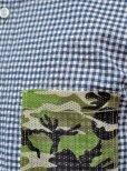 画像7: 【narifuri】 ナリフリ Seersucker gingham 3/4 sleeve shirt (NF929)