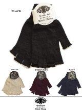 【BLACK SHEEP】 フィンガーレスニットグローブ#3 手袋  4カラー