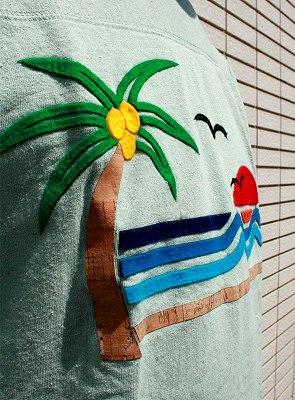 J.CREW   BEACH 7分袖フットボールTシャツ