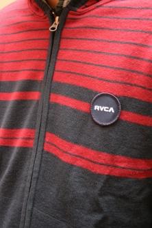 RVCA ルカ  ボーダーニットパーカー RED/NVY