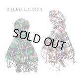 【RALPH LAUREN】 フランネルチェックマフラー