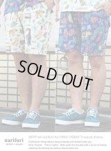 【narifuri】ナリフリ narifuri for FRED PERRY Tropical shorts トロピカルショーツパンツ(NFFP-04)