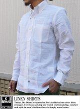 【IKE BEHAR】リネンシャツ  LINEN SHIRT WHT