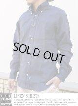 【IKE BEHAR】リネンシャツ  LINEN SHIRT NVY