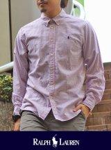 POLO RALPH LAUREN ポロ ラルフローレン ウィンドーペーンBOY'Sシャツ WH/PK/BK