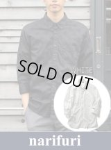 【narifuri 】ナリフリ  Shadow dot 3/4 sleeve shirt(NF802)
