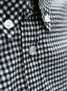 他の写真3: 【narifuri】 ナリフリ Seersucker gingham 3/4 sleeve shirt (NF929)