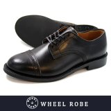 【WHEEL ROBE】ウィールローブ DRESS TOE CAP OX FORD BLACK