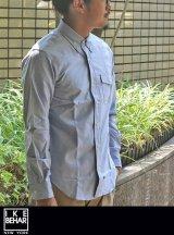 【IKE BEHAR】 アイクベーハーOX FORD L/S B.D シャツ L.BLUE
