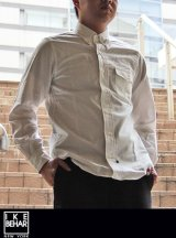 【IKE BEHAR】 アイクベーハーOX FORD L/S B.D シャツ WHITE