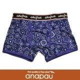 【anapau】 アナパウ  ボクサーパンツ バンダナ柄 INK BLUE P-1702