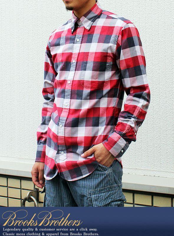 【BLACK FLEECE 】B.Dブロックチェックシャツ BLK/WHT/RED                                    [BRB-13  ブラックフリース ]